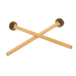 Duo: 2 kurze Trommel-Schlegel, 24 cm, Schlitztrommel-Schlegel kaufen München, Drum Sticks für Klangauge oder Happy-Drum, Kurze Trommel-Klöppel, Trommel-Schlegel für tongue-drum, Trommel-Klöppel für Tank-Drum, Duo: 2 kurze Trommel-Schlegel, 24 cm