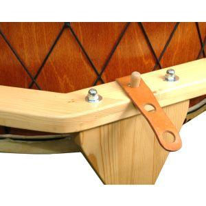 PowWow kaufen, Pow Wow kaufen, Pow-Wow von Bussho kaufen, Pow-Wow in Deutschland gefertigt, Tafel-Trommel kaufen, Tisch-Trommel kaufen, Trommel kaufen München - Pow Wow von Bussho - Detail Ständer und Aufhängung